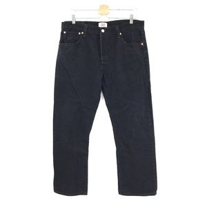 Levi's 501 button fly Jeans Black wash high rise